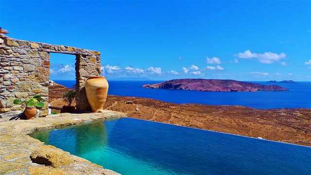 Amazing views private pool Mykonos rental villa