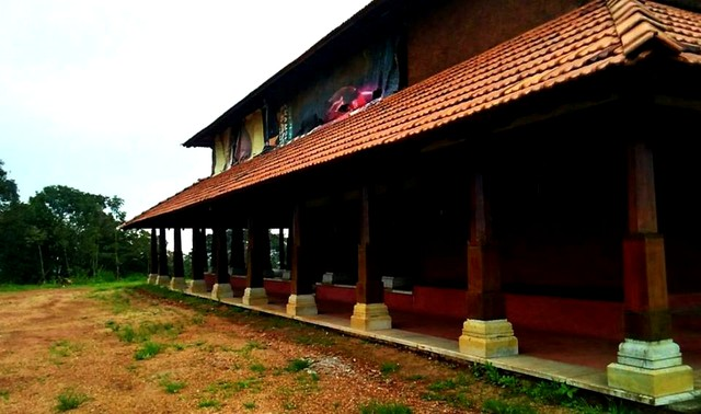 Heritage style house on the top of a hill, Sakleshpur